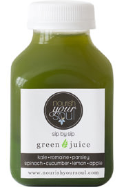 nourish your soul green juice mini