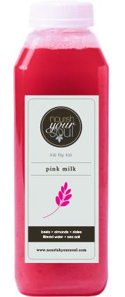 pink milk beets almonds