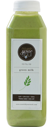 nourish your soul green milk